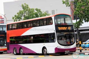 SMRT Volvo B9TL (SG5120S) - Service 67, in SBS Transit base livery