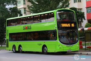 Go-Ahead Volvo B9TL Wright (SG5139P) - Service 85