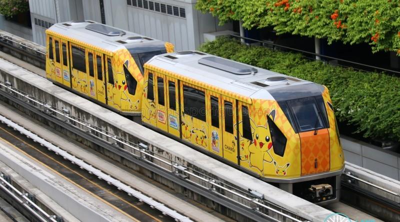 Changi Airport Skytrain - Pokemon Advertisement Wrap