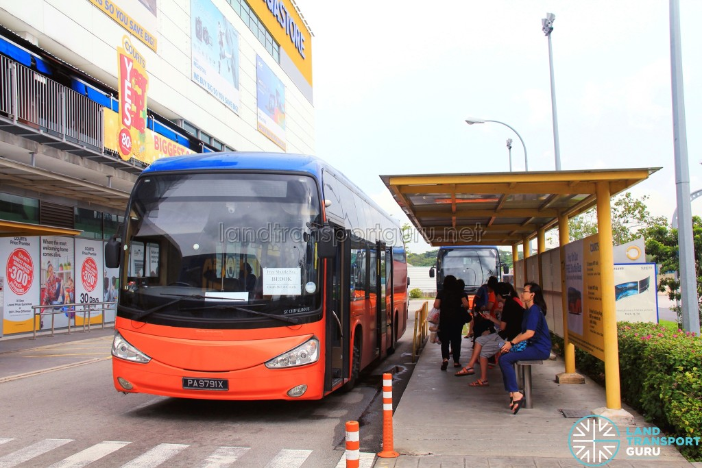 Courts Megastore Stop for Tampines Retail Park Shuttle