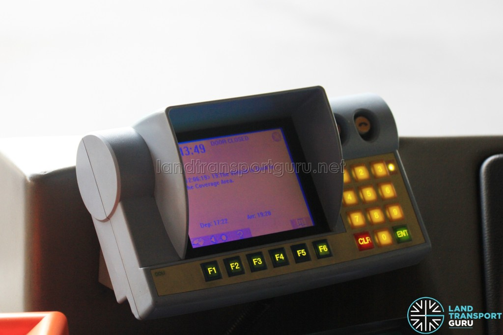 SBS Transit's Driver Display Unit (DDU)