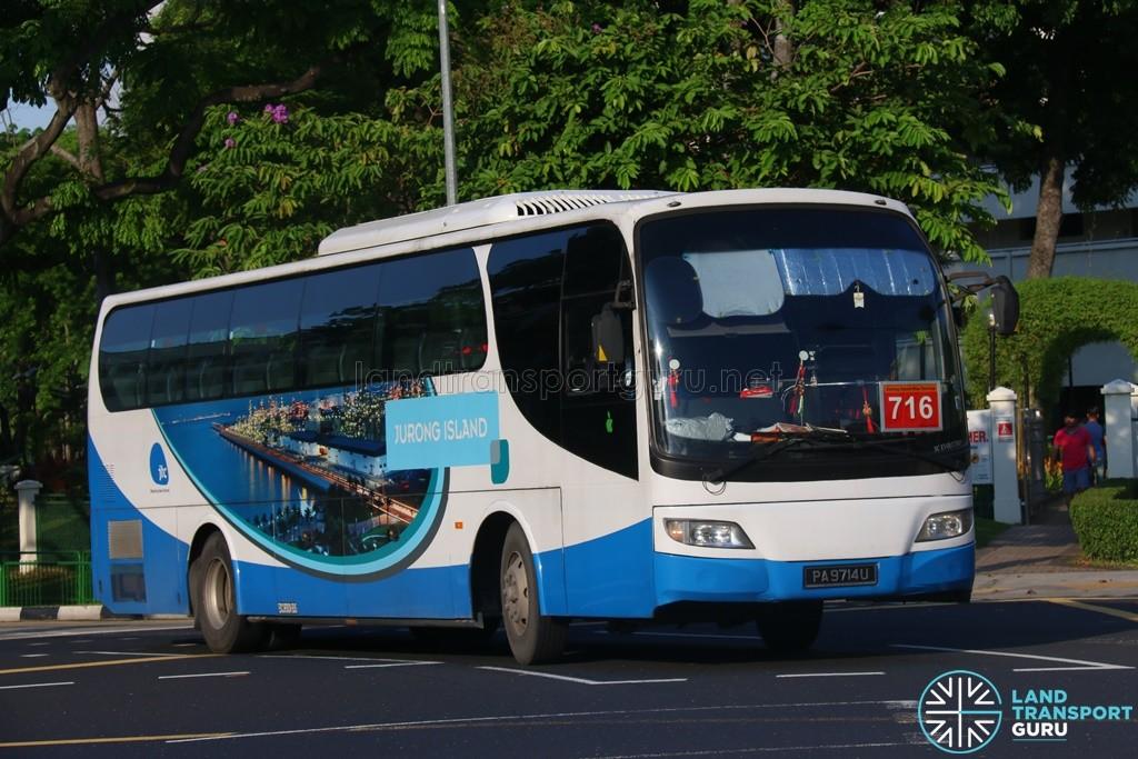 Jurong Island Bus Service 716 - Woodlands Transport Isuzu LT134P (PA9714U)