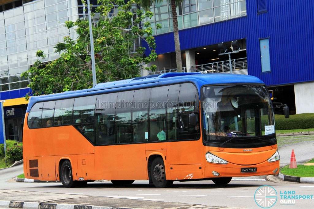 ComfortDelGro Scania K230UB (PA9794M) - Tampines Retail Park Shuttle (Tampines route)