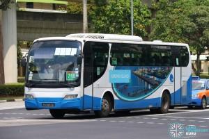 Jurong Island Bus Service 718 - Woodlands Transport Isuzu LT134P (PA9853B)