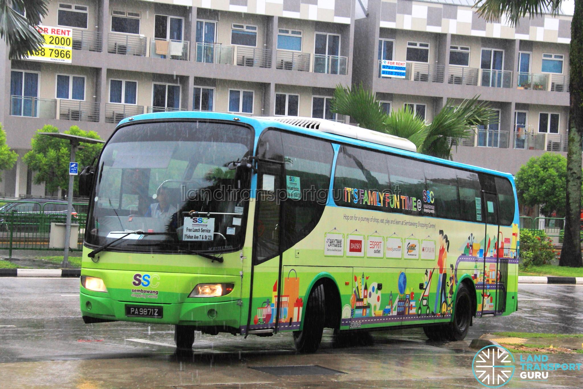 Sembawang Shopping Centre Shuttle Bus Services | Land Transport Guru