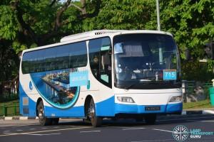 Jurong Island Bus Service 715 - Woodlands Transport Isuzu LT134P (PA9907E)