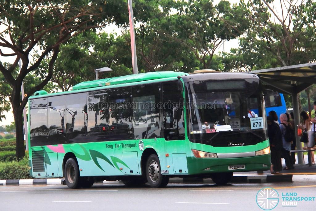 Tong Tar Transport Service Zhongtong LCK6103G (PC2048U) - City Direct 670