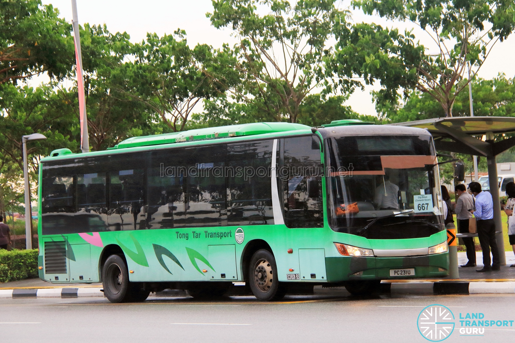 Tong Tar Transport Service Zhongtong LCK6103G (PC231U) - City Direct 667