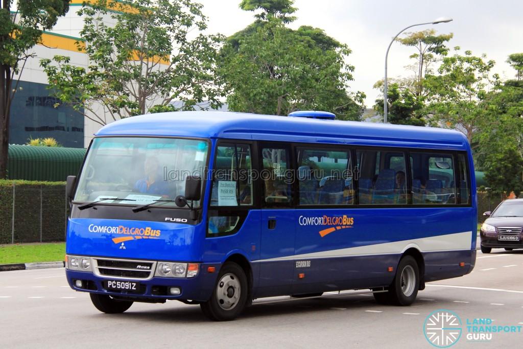ComfortDelGro Mitsubishi Fuso Rosa (PC5091Z) - Tampines Retail Park Shuttle (Pasir Ris route)