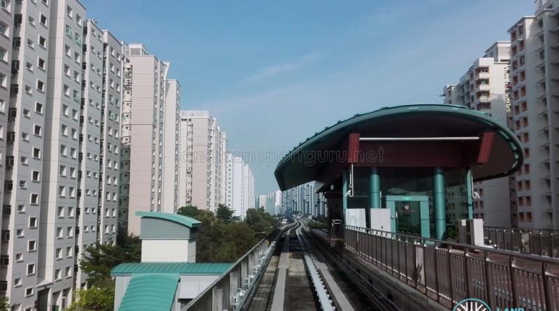 Meridian LRT Station - Exterior from tracks