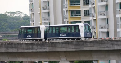 Punggol LRT System - Double Carriage on Test (Set 48 and 53)