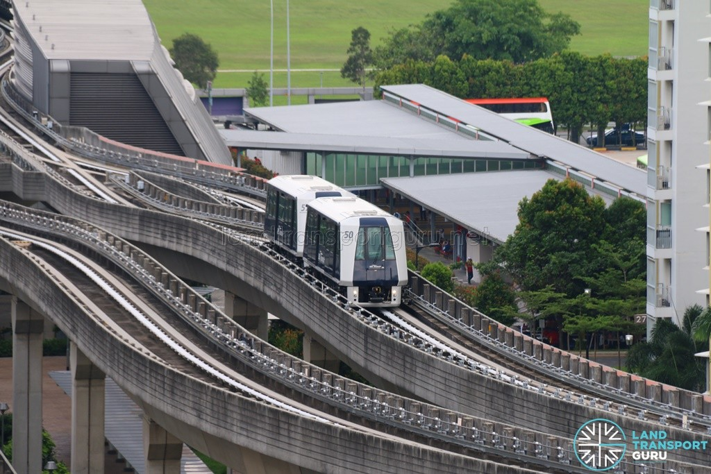 Punggol LRT System - Double Carriage on Test (Set 50 and 57)