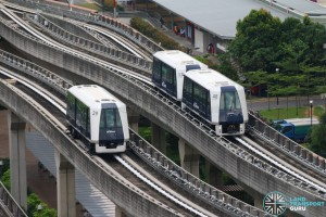 Punggol LRT System - Single versus Double carriage train