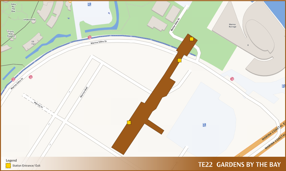 Gardens By The Bay TEL Station Diagram