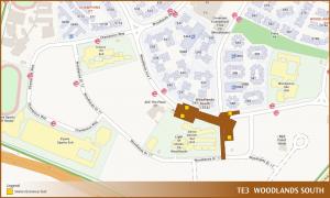 Woodlands South TEL Station Diagram