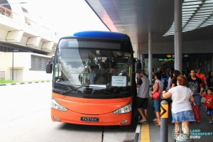 Bedok MRT Stop for Tampines Retail Park Shuttle