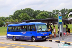 Pasir Ris MRT Stop for Tampines Retail Park Shuttle