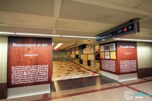 Basement Station Exit D to Republic Plaza basement