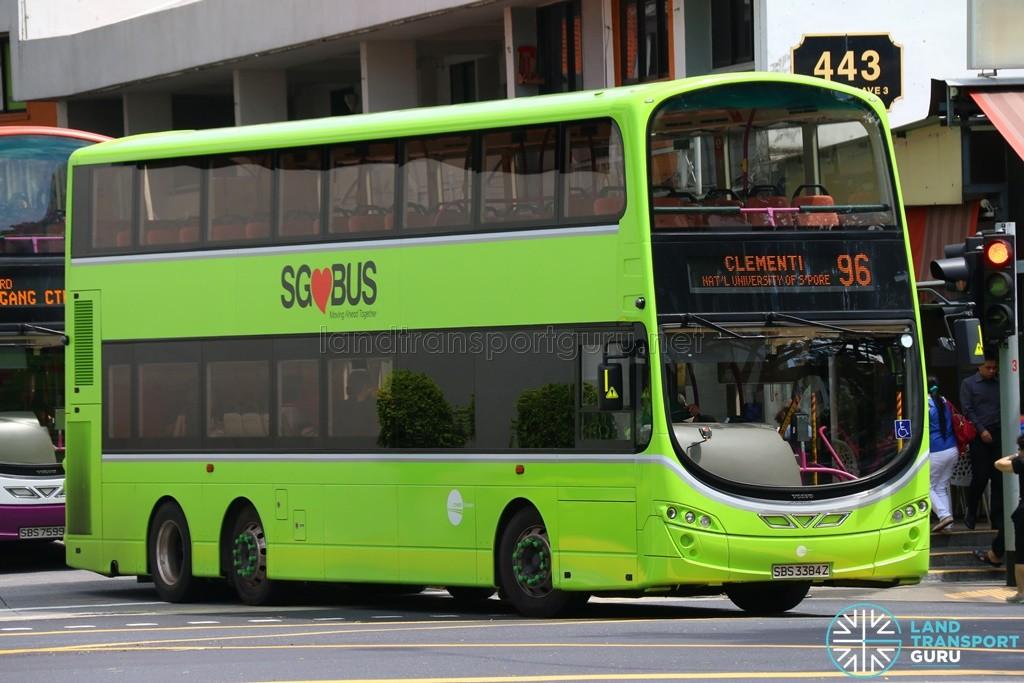 Tower Transit Volvo B9TL Wright (SBS3384Z) – Service 96