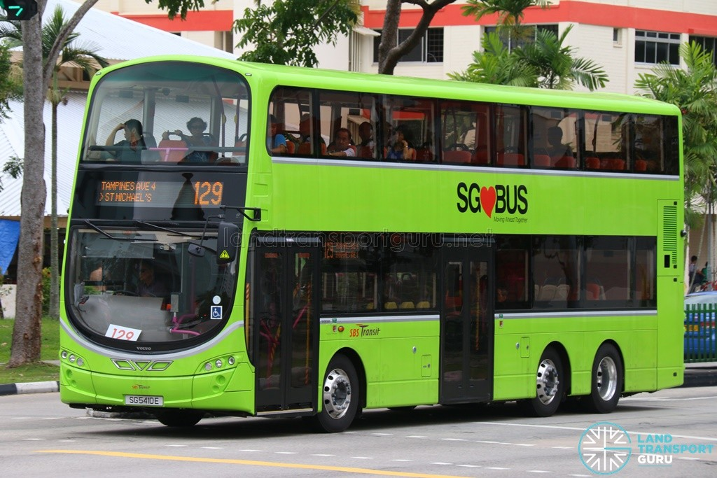 Service 129 is one of 27 bus services under the Tampines Bus Package