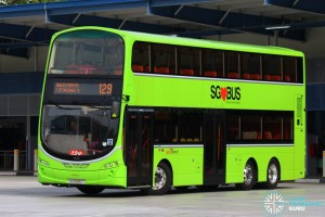 SBST Volvo B9TL Wright (SG5590T) - Service 129