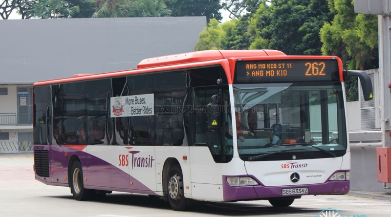 SBST Mercedes-Benz O530 Citaro (SBS6334Z) - Service 262