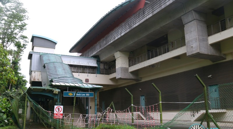 Teck Lee LRT Station - Exterior view