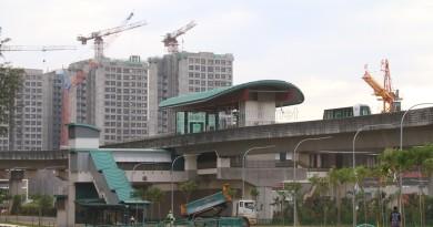 Samudera LRT Station - Exterior view