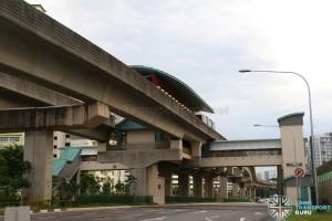 Nibong LRT Station - Exterior view