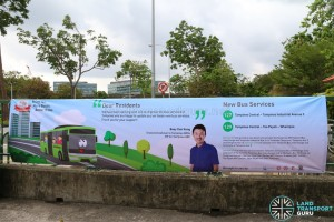 Promotional Banner for New Bus Services 127 & 129 (Featuring Mr Baey Yam Keng)