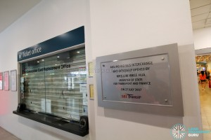 Ang Mo Kio Bus Interchange - Ticket Office and Opening Plaque