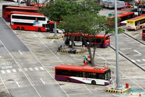 Braddell Bus Park - Bus parking lots