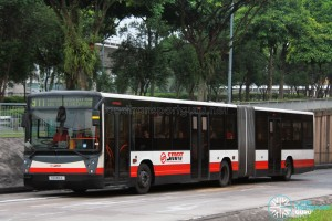 SMRT Mercedes-Benz O405G Hispano Habit (TIB1106E) - Service 911 - Transit Media EDS