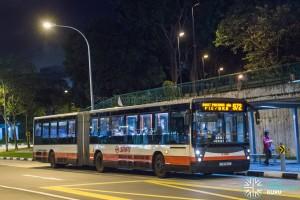 SMRT Mercedes-Benz O405G Habit (TIB1152X) - Service 972