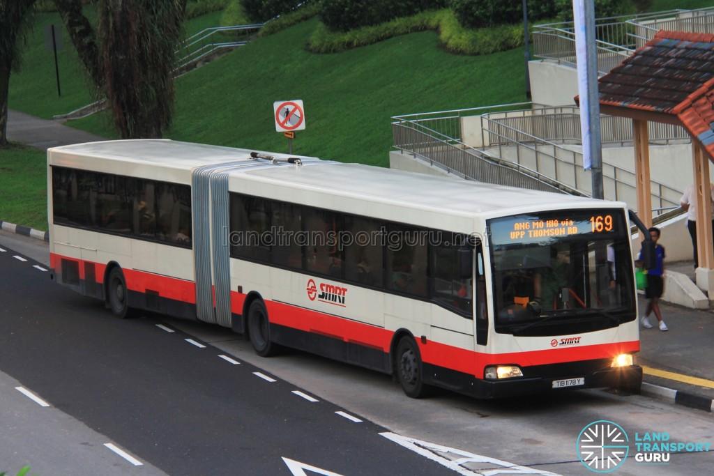 SMRT Mercedes-Benz O405G Volgren (TIB1178Y) - Service 169