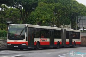 SMRT Mercedes-Benz O405G Volgren (TIB1191H) - Service 911 - Transit Media EDS