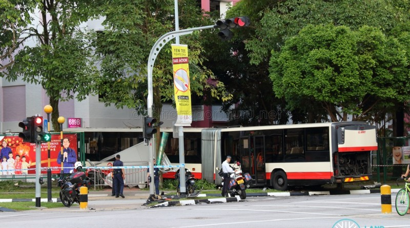 Overview of accident from across the junction