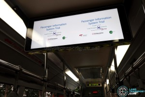 LTA Trial Passenger Information System (PIS) onboard SMB3053M - Dual Default screens