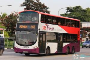 SBS Transit Volvo B9TL Wright (SBS3843R) - Premium 555