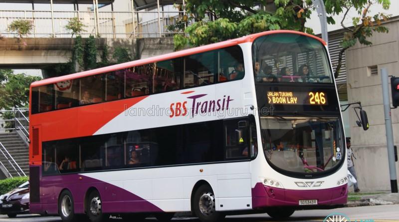 SBS Transit Volvo B9TL Wright (SG5343R) - Service 246
