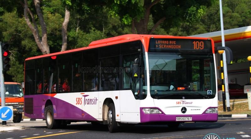 Service 109 - SBS Transit Mercedes-Benz Citaro (SBS6076T)