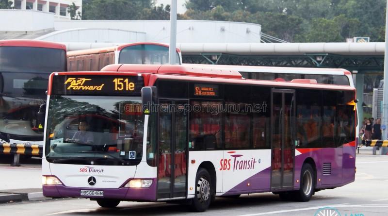 SBS Transit Mercedes-Benz Citaro (SBS6846M) - Service 151e