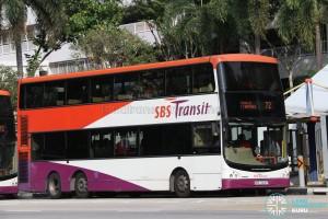 SBS Transit Volvo B9TL CDGE (SBS7300P) - Service 72