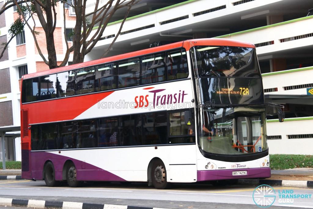 SBS Transit Volvo B9TL CDGE (SBS7429C) - Service 72A