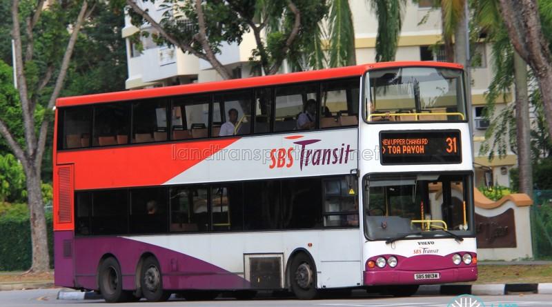 SBST Volvo B10TL (SBS9813M) - Service 31