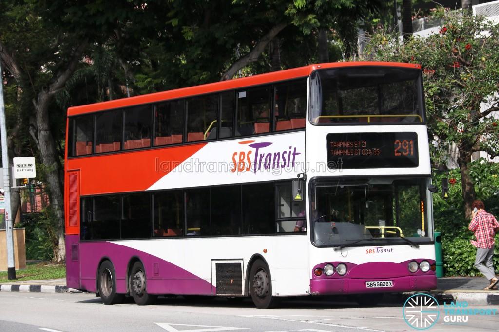 SBS Transit Volvo B10TL (SBS9828X) - Service 291
