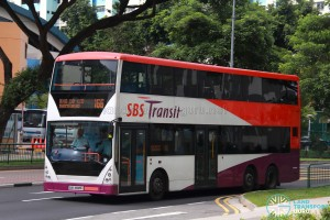 SBS Transit Volvo B10TL CDGE (SBS9889U) - Service 166, prior to refurbishment