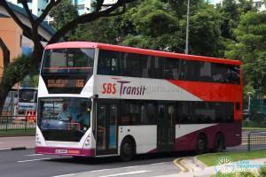SBS Transit Volvo B10TL CDGE (SBS9889U) - Service 166, prior to refurbishment