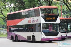 Bus 143 - SBS Transit Volvo B10TL CDGE (SBS9889U)