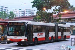 SMRT Mercedes-Benz O405G Hispano MkII (TIB994P) - Service 67 - LAWO BENEFIT EDS